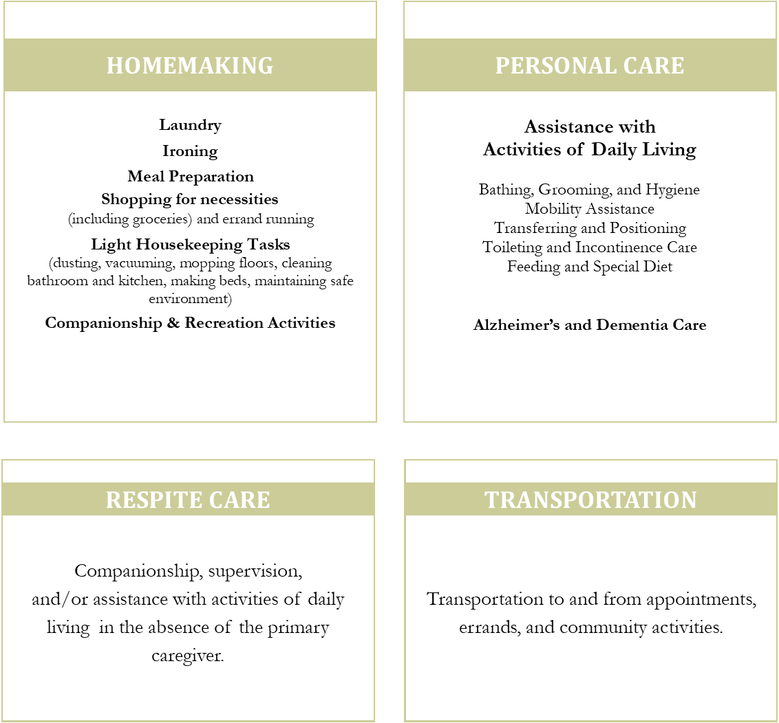 Home Care Services - Forster Woods Adult Day Center